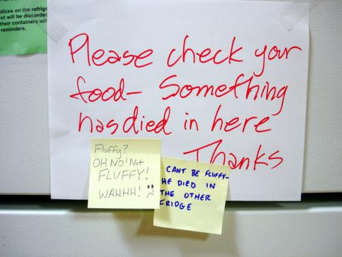 Hilarious Office Fridge Notes That Will Make You Cringe ...
